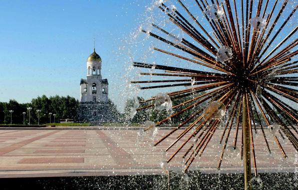 Picture the city, area, fountain, Russia, chapel, Kamensk-Uralsky