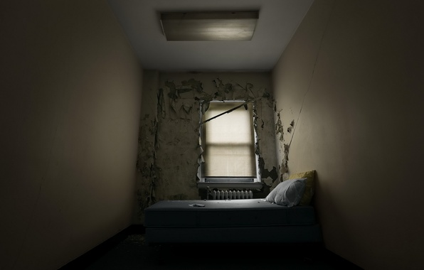 Picture window, bed, chamber