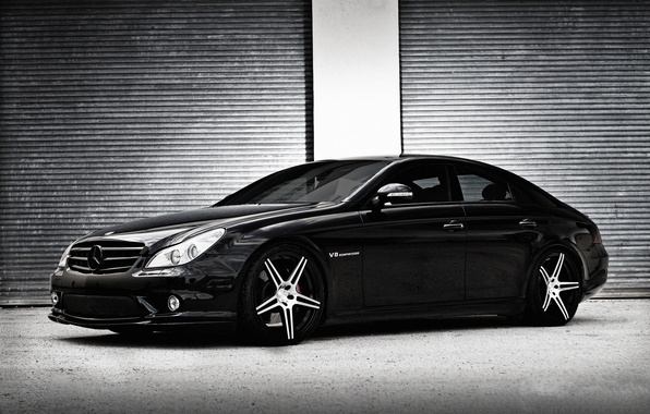 Photo wallpaper CLS-Class, C219, Mercedes-Benz, black, Black, Mercedes, AMG