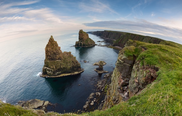 Picture rocks, coast, Scotland, Scotland, North sea, North Sea, Duncansby Stacks, Caithness