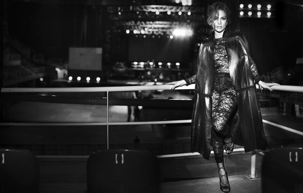 Picture scene, chairs, actress, black and white, singer, Jennifer Lopez, Jennifer Lopez, J Lo