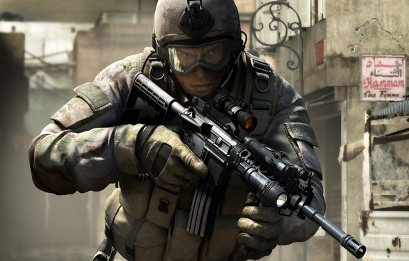 Picture weapons, war, soldiers, SOCOM 4: US Navy SEALs