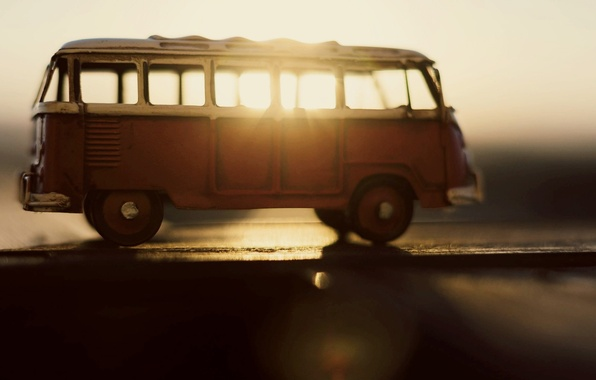 Picture machine, the sun, rays, background, widescreen, transport, Wallpaper, toy, blur, wallpaper, bus, machine, different, widescreen, ...