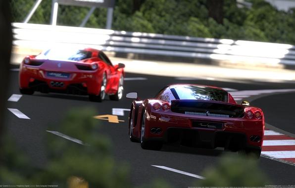 Picture race, ferrari, gran turismo 5, Ferrari