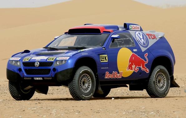 Picture Auto, Blue, Sport, Volkswagen, Desert, Jeep, Red Bull, Touareg, Rally, Dakar, Dakar, SUV, Touareg