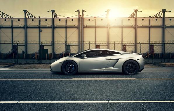 Picture auto, sunset, Lamborghini gallardo