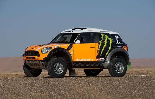 Picture Yellow, Mini Cooper, Rally, Dakar, Rally, MINI, Mini Cooper, X-raid
