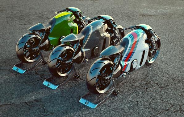 Picture motorcycle, Lotus, bike, render, Lotus C-01