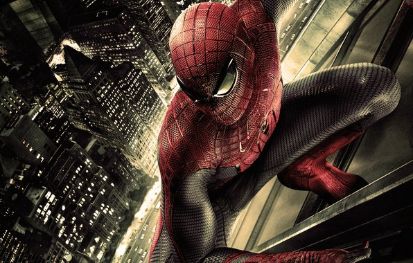 Picture machine, skyscraper, costume, the amazing spider-man, amazing spider man