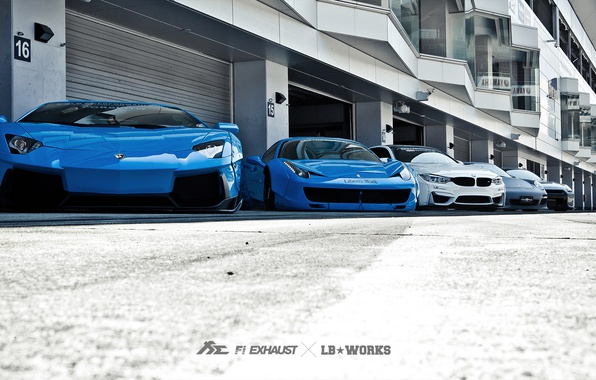 Picture machine, tuning, Lamborghini, Porsche, BMW, Ferrari, Nissan, garages, Liberty Walk
