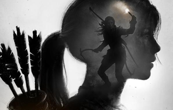 Picture Girl, Bow, Lara Croft, Art, Lara Croft, Torch, Rise of the: Tomb Raider, Ice pick