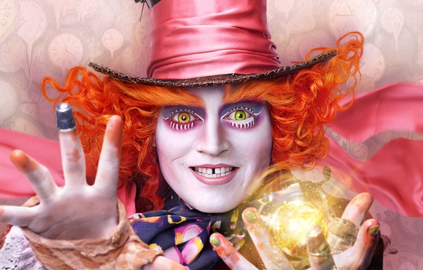 Picture Johnny Depp, Johnny Depp, Mad Hatter, Alice in Wonderland, 2016, Alice Through the Looking Glass