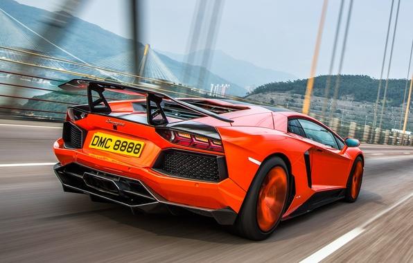 Picture movement, tuning, Lamborghini, rear view, Molto Veloce, Aventador LP900-4