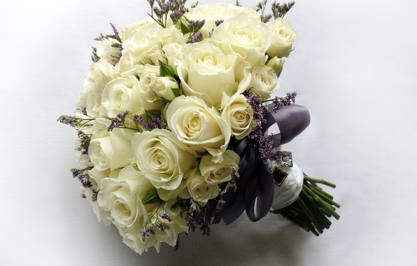 Picture photo, Flowers, White, Bouquet, Roses
