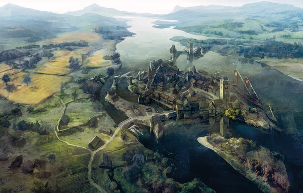 Wallpaper Landscape Art The Witcher 3 Wild Hunt The Witcher 3 Wild Hunt Novigrad City