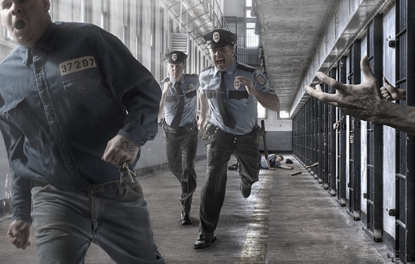Picture keys, prison, prisoner, police