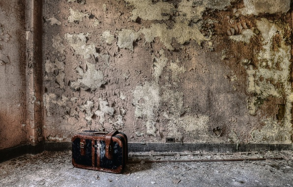 Picture background, wall, suitcase