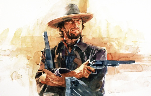 Picture background, Western, Clint Eastwood, Clint Eastwood