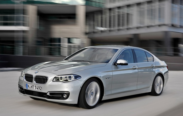 Picture machine, BMW, speed, silver, BMW, Sedan, 535i, Luxury Line
