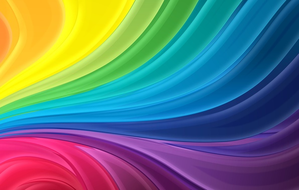 Picture wave, abstraction, strip, rainbow