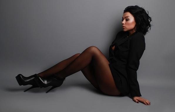 Девушки в колготках черных фото 64322 фотография
