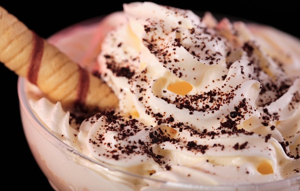 Picture food, chocolate, cream, ice cream, mug, cake, wand, cream, sweet, tops