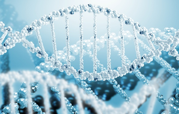 Picture rendering, science, spiral, DNA
