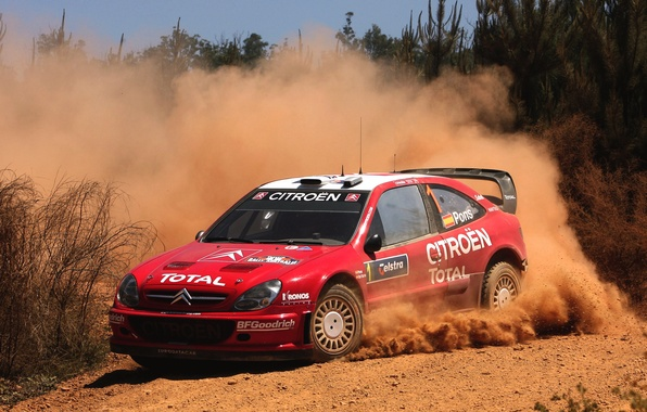 Picture Red, Auto, Dust, Sport, Machine, Speed, Turn, Skid, Citroen, WRC, Rally, Rally, Xsara