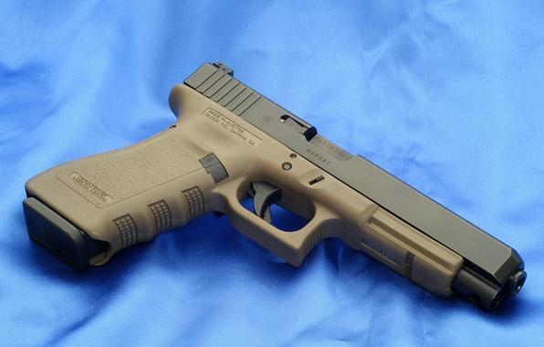 Picture Blue, Gun, Austria, Wallpaper, Trunk, Background, Weapons, Glock, Glock, Wallpapers, Austria, Weapons, 34OD, 34ОД