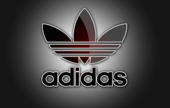 Picture color, light, sport, logo, shadows, grey background, adidas, firm