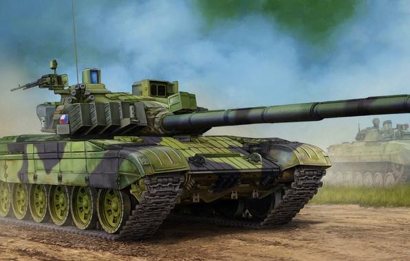 Photo wallpaper war, art, painting, tank, Czech T-72M4CZ MBT