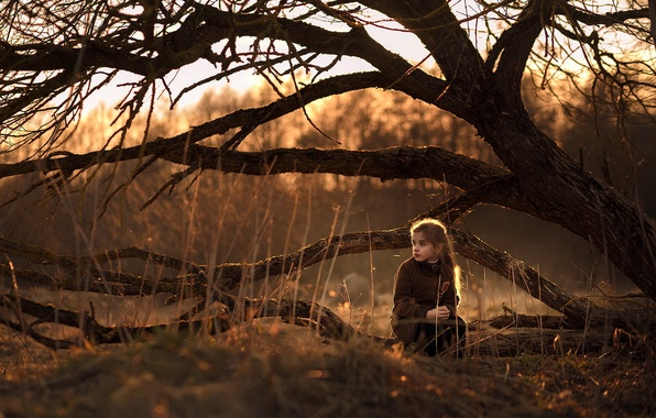 Picture nature, mood, girl