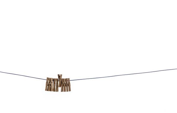 Wallpaper background, minimalism, clothespins