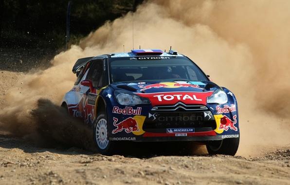 Picture Auto, Dust, Wheel, Speed, Race, Skid, Drift, Citroen, DS3, WRC, Rally