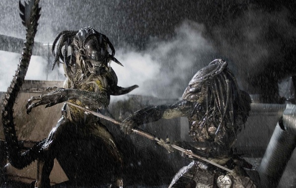 Picture fiction, predator, monster, fight, horror