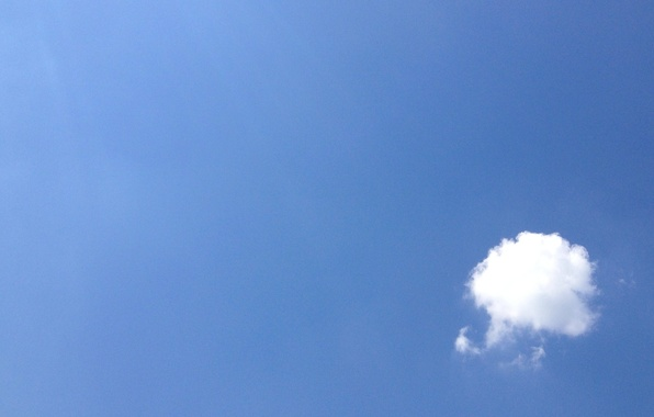 Picture the sky, blue, cloud