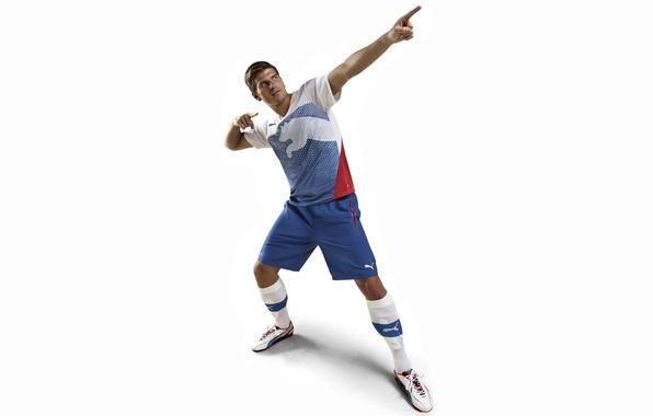 Picture advertising, Puma, Puma, new shoes, Mario Gomez, Gomez