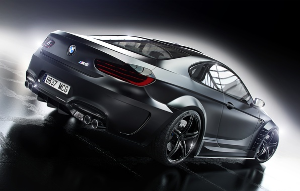 Picture BMW, Car, Black, Prior Design, Wheels, Rear