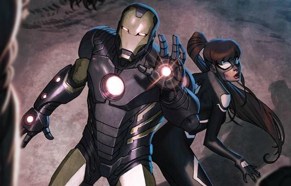 Picture Iron Man, Marvel Comics, Tony Stark, Anya Corazon, Spider-Girl