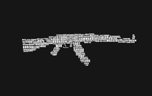 Picture weapons, machine, Kalash, AK-47
