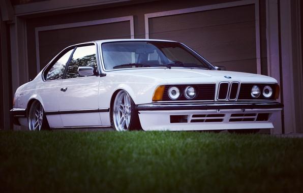 Picture white, BMW, BMW, white, classic, E24, Bimmer, bimmer, 635