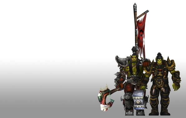 Picture coat of arms, brothers, orcs, wow, world of warcraft, banner, WWII, the leader, Thrall, ork, …