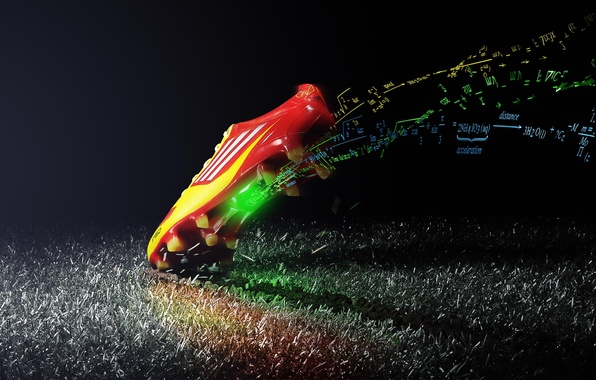 Picture field, football, science, shoes, formula, adidas, chemistry, math, physics, boot