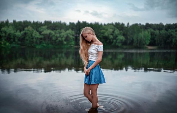 Picture legs, the beauty, in the water, skirt, Vika, George Chernyadev, Quiet, Victoria Pichurova