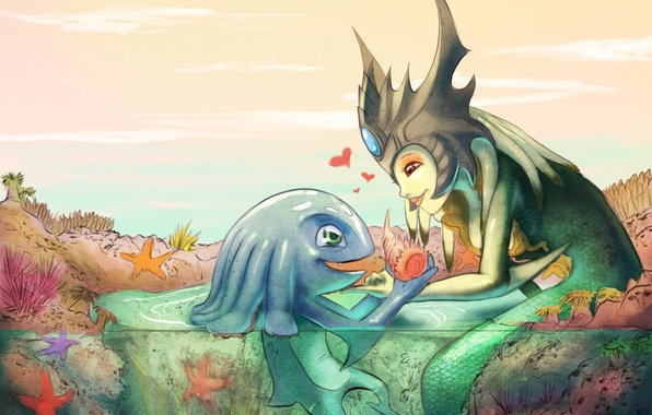 Picture art, lol, League of Legends, Nami, Fizz