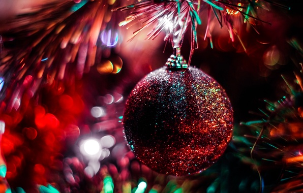 Picture ball, decoration, Christmas