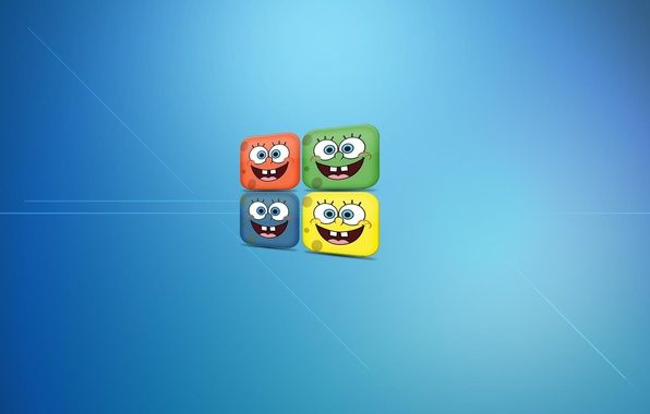 Picture Smile, sponge, Bob, windows, sponge Bob