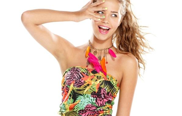 Picture girl, smile, beautiful, bright, Sandra Kubicka