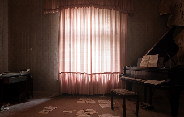 Picture background, room, piano