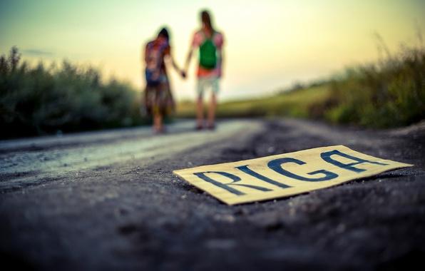 Picture road, plate, pair, RIGA